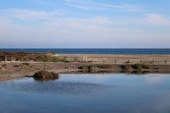 Beautiful view of beach royalty free stock photos