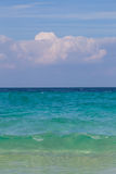 Beautiful view of beach, sea, and sky. On sunshine day Stock Image