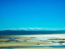 Beautiful view of beach in sun light Stock Photography