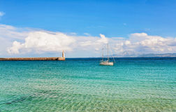Beautiful view from beach to ocean Royalty Free Stock Photography