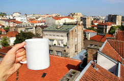 Beautiful view of Belgrade roofs, Serbia Royalty Free Stock Photography