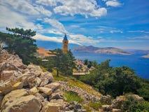 View Sv Ivan on Island Krk Croatia royalty free stock photos