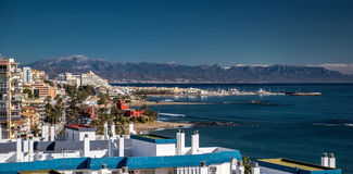 Beautiful view of Benalmadena coast Royalty Free Stock Photos