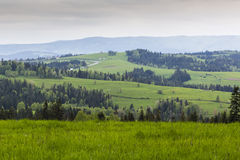 Beautiful view of Beskidy mountains, Poland Stock Photos