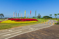 Beautiful view bicycle lane at the park. Bike with beautiful landscape view, Thailand Royalty Free Stock Images