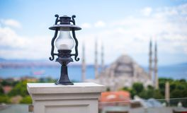 Beautiful view of the Blue Mosque from hotel Royalty Free Stock Photo