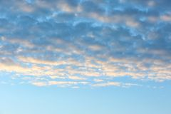 Beautiful view of blue sky Royalty Free Stock Photos