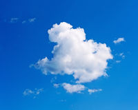 Beautiful View on Blue Sky and Clouds. Royalty Free Stock Photo