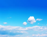 Beautiful View on Blue Sky and Clouds Stock Photos