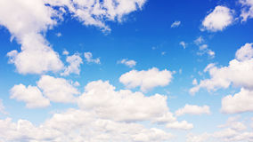 Beautiful view of blue sky and clouds. Royalty Free Stock Image