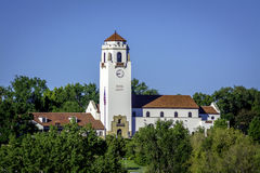 Beautiful view of the Boise Idaho Tain Depot in summer Stock Photo