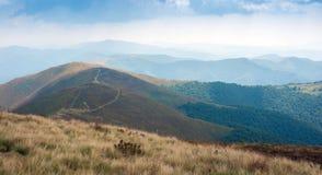 Beautiful view of the Borzhavsky mountain range, Ukraine. stock photo