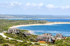 Beautiful view of Bosbokduin Private Nature Reserve in Still Bay, South Africa. royalty free stock image