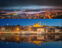 Beautiful view of Bosphorus and cityscape Istanbul Royalty Free Stock Photo
