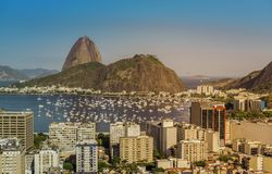 Beautiful view of Botafogo Bay in Rio de Janeiro Stock Image