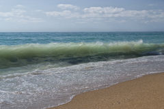 Beautiful view on a breakers wave Stock Photography