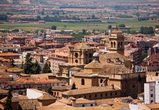 Beautiful view of brick roofs in Granada town Royalty Free Stock Images