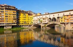 Beautiful view of bridge Ponte Vecchio Stock Images