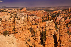 Beautiful view of bryce canyon national park. The Beautiful view of bryce canyon national park Stock Photography