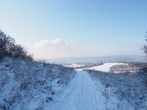 Beautiful view from Buda Mountains. Hungary stock photography