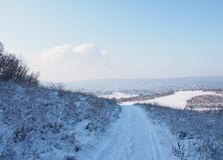 Beautiful view from Buda Mountains. In wintertime, Hungary stock images