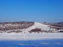 Beautiful view from Buda Mountains. In wintertime, Hungary royalty free stock photography