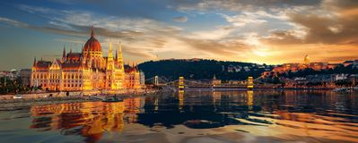 Beautiful view of Budapest stock photography