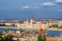 Budapest and Danube panorama stock image