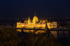 Beautiful view of Budapest Parliament. Parliament Building on the Danube River in Budapest. Hungary Budapest. Night view. Beautiful view of Budapest's Parliament Stock Photos
