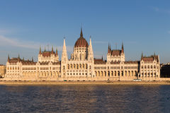 Beautiful view of Budapest Parliament. Parliament Building on the Danube River in Budapest. Hungary Budapest. Beautiful view of Budapest's Parliament Stock Photography