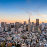 Beautiful view of  business center in downtown San Francisco Royalty Free Stock Photos