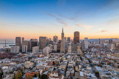 Beautiful view of  business center in downtown San Francisco Stock Photos