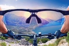 Beautiful view from the bycicle Stock Photo