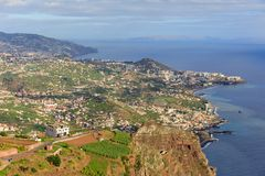 Coastline view Madeira royalty free stock photography