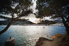 Beautiful view of a Cadaqués  town Royalty Free Stock Photography