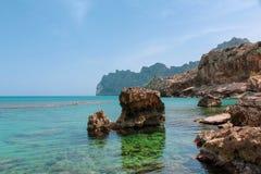 Cala Barques. Beautiful view at Cala Barques / Cala San Vincente royalty free stock photos