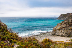 Beautiful View of the California Coastline along State Road 1. Royalty Free Stock Images
