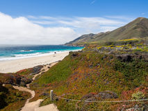 A beautiful view of California's coastline along Highway 1, Big Sur Stock Image