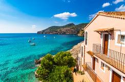 Beautiful view of Camp de Mar bay coast Majorca Spain Stock Images