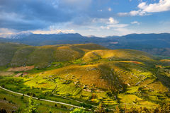 Beautiful view of Campo Imperatore plateau Stock Image