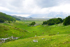Beautiful view of Campo Imperatore plateau Stock Photo