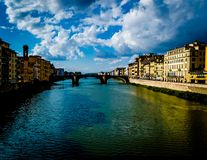 View of the canal in Florence stock images