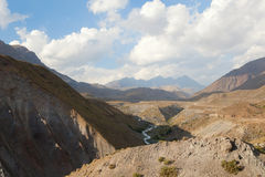 Beautiful view of canyon Maipo, Chile Royalty Free Stock Photos