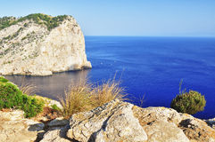 Beautiful view of cape formentor on mallorca stock photography