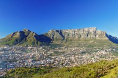 Beautiful view of Cape Town and Table Mountain stock images