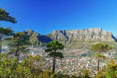 Beautiful view of Cape Town and Table Mountain Royalty Free Stock Images