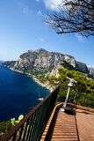 Beautiful view of Capri Island from tourist point. Southern Italy Royalty Free Stock Image
