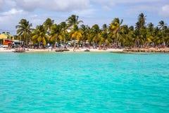 Beautiful view of Caribbean lagoon Royalty Free Stock Image