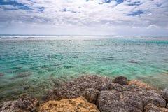 Beautiful view of caribbean lagoon Stock Images