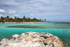 Beautiful view of caribbean lagoon Stock Photography